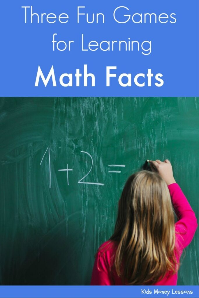 Three Games to Help Kids Learn Math Facts: Learning math facts can be fun! Here are 3 board games that help kids learn basic math facts.