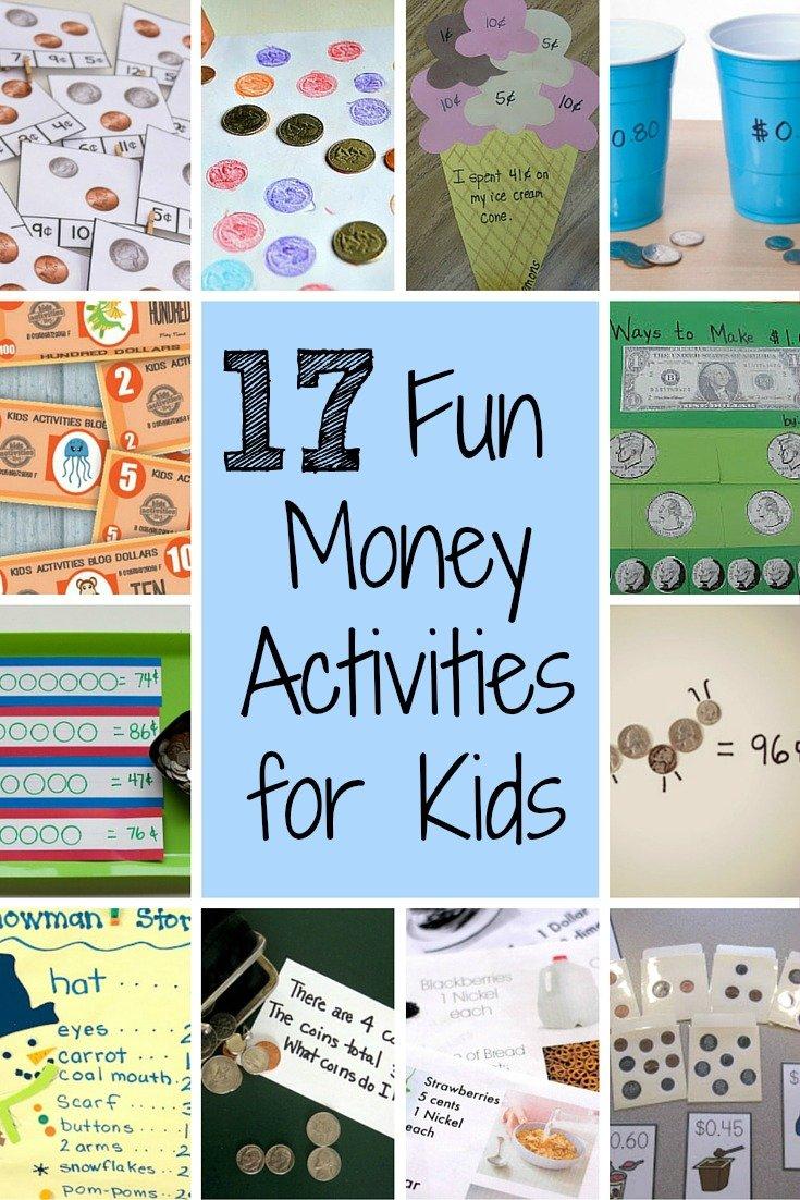 17 Fun Money Activities to Help Kids Understand Coins' Values