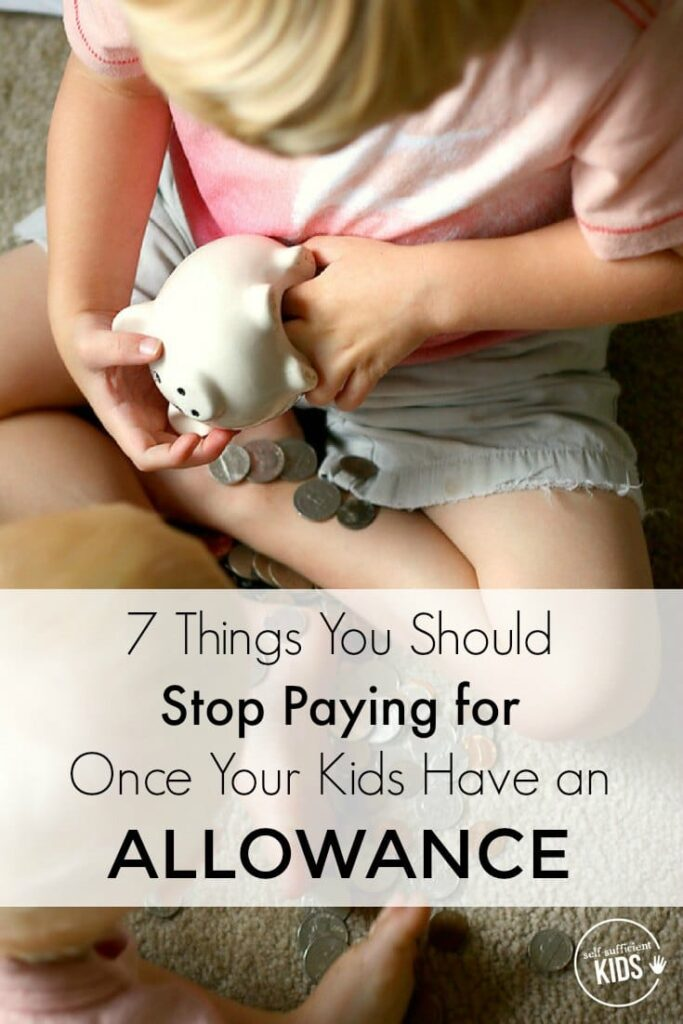 When you give your kids an allowance, you're giving them the responsibility to pay for more things on their own. Here are 7 things you can stop paying for once your kids have an allowance.
