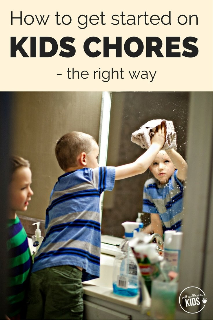How to get started on kids chores - the right way: Giving kids chores sets them up for success in many areas of life, but getting started is half the battle. Here's a guide to get you started. #kidschores