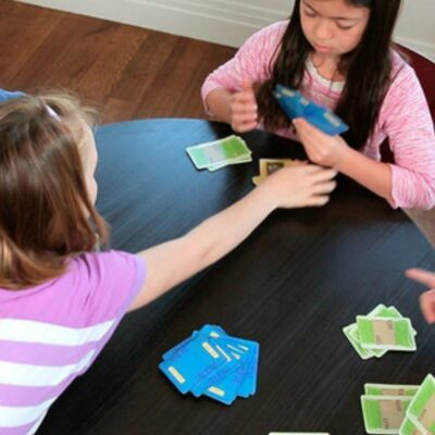 Math and Money Lessons with The Clumsy Thief: The Clumsy Thief game uses money cards to teach kids how to add in double digits as well as do mental math quickly.