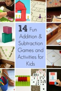14 Fun Addition and Subtraction Games and Activities for Kids: These games and activities make learning addition and subtraction fun for kids!
