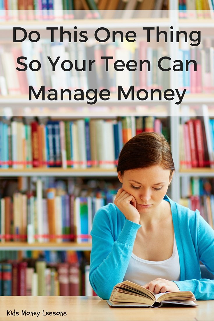 Money Management for Teens: Parents can play a big part in teaching teens how to manage money. Here's one thing you can do to prepare your teen for financial independence.