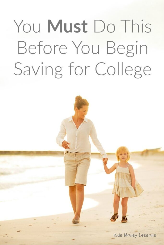 You Must Do This Before You Begin Saving for College: Many parents hope to set aside money for their kids college education. But consider doing this first.