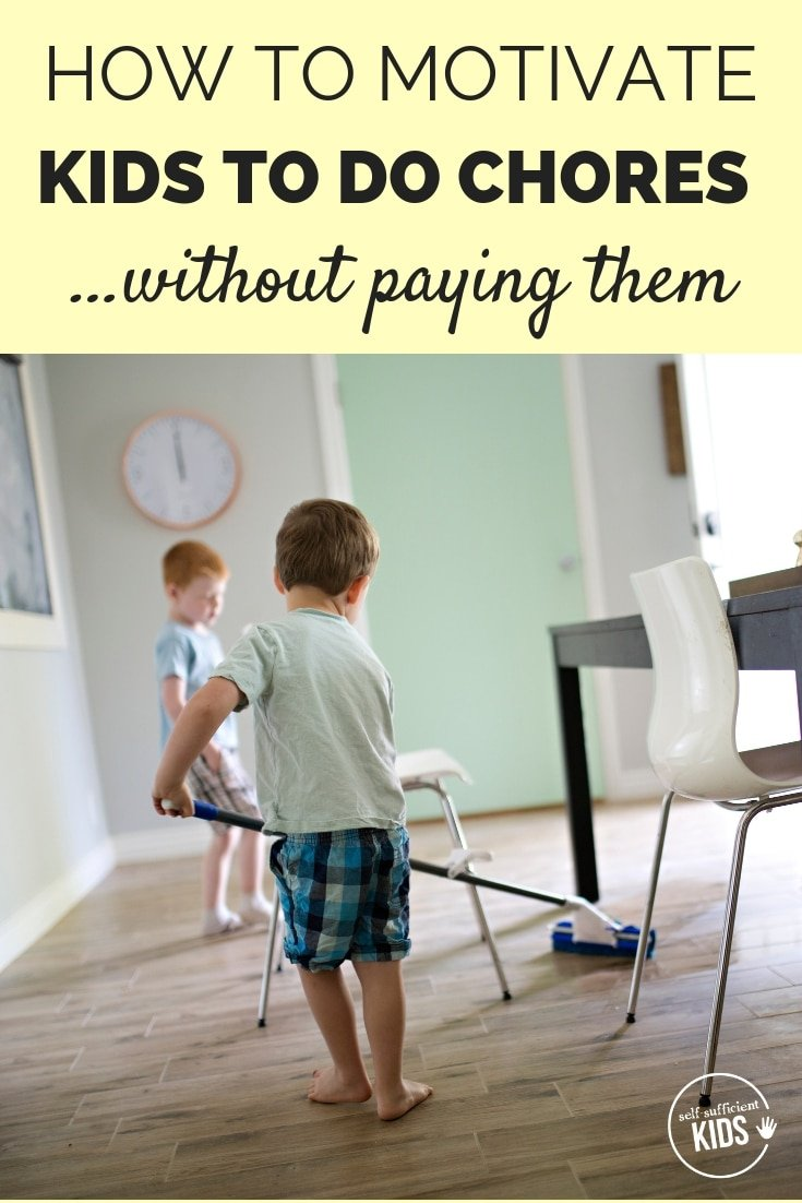 How to Motivate Kids to Do Chores (without paying them!): Paying kids for chores doesn't always work, and some research suggests it could do more harm than good. So what does work? #kidschores #chorecharts #parentingadvice #parentingtips