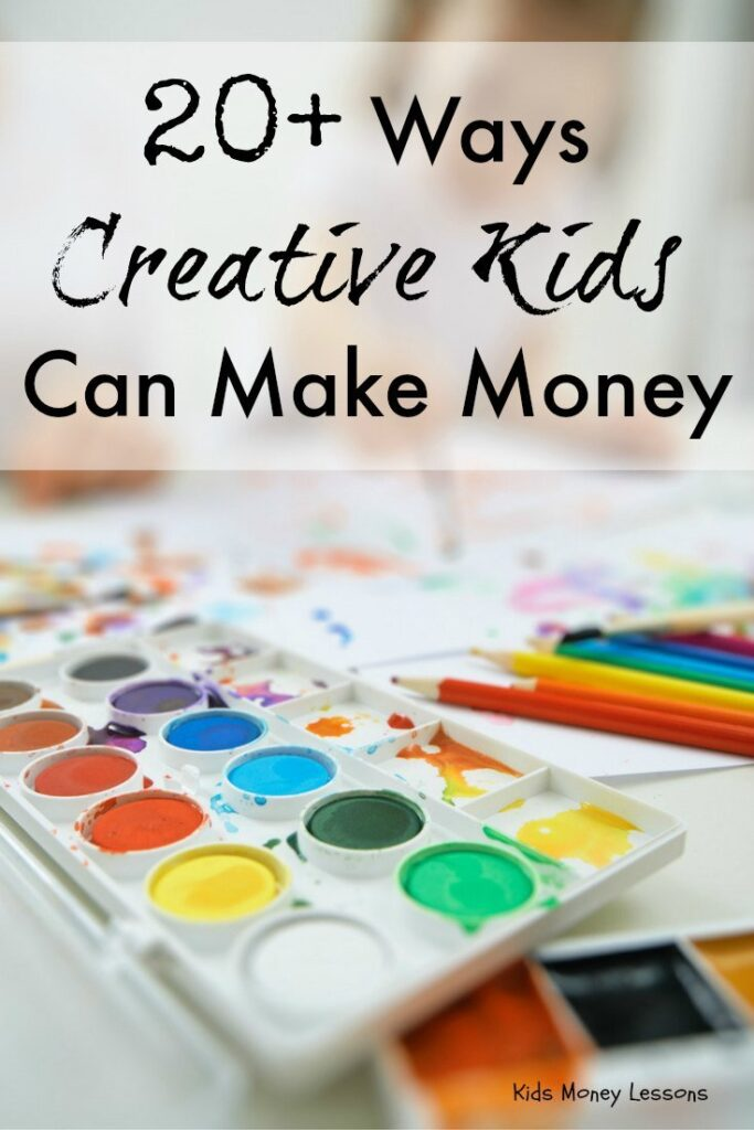 20+ Ways Creative Kids Can Make Money: Kids can make use of their creativity by turning their talent into a product or service. Here's a list of 20+ ways creative kids can make money.