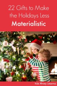 22 Gifts to Make the Holidays Less Materialistic: Turn the focus of the holidays away from stuff and more to the spirit of the season. A list of gifts that encourages family time, generosity, and creativity.