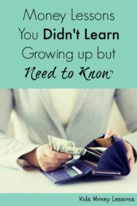Money Lessons You Didn't Learn Growing Up But Need to Know: Which money lessons did you miss as a child? Make sure your kids don't miss out on these important lessons.