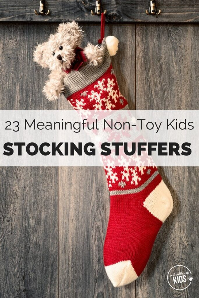 23 Meaningful Non-Toy Kids Stocking Stuffers: Finding stocking stuffers that aren't just cheap plastic trinkets is tricky. Here are twenty-three gift ideas that have lasting value. #stockingstuffers