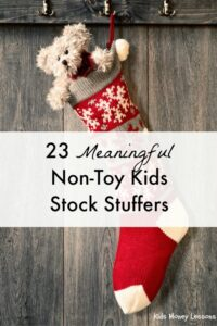 23 Meaningful Non-Toy Kids Stocking Stuffers: Finding stocking stuffers that aren't just cheap plastic trinkets is tricky. Here are twenty-three gift ideas that should have lasting value.
