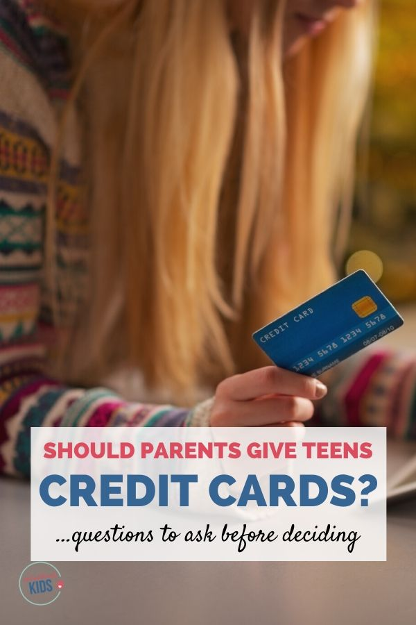 Should parents give their teens a credit card?
