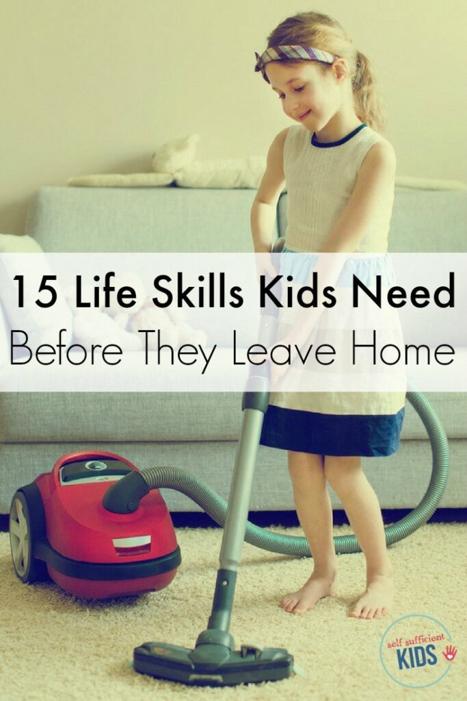 This list is priceless! Help kids thrive by teaching them 15 essential life skills. Nothing builds confidence more than the ability to be self-sufficient. - 15 LIfe Skills Kids Need Before They Leave Home.