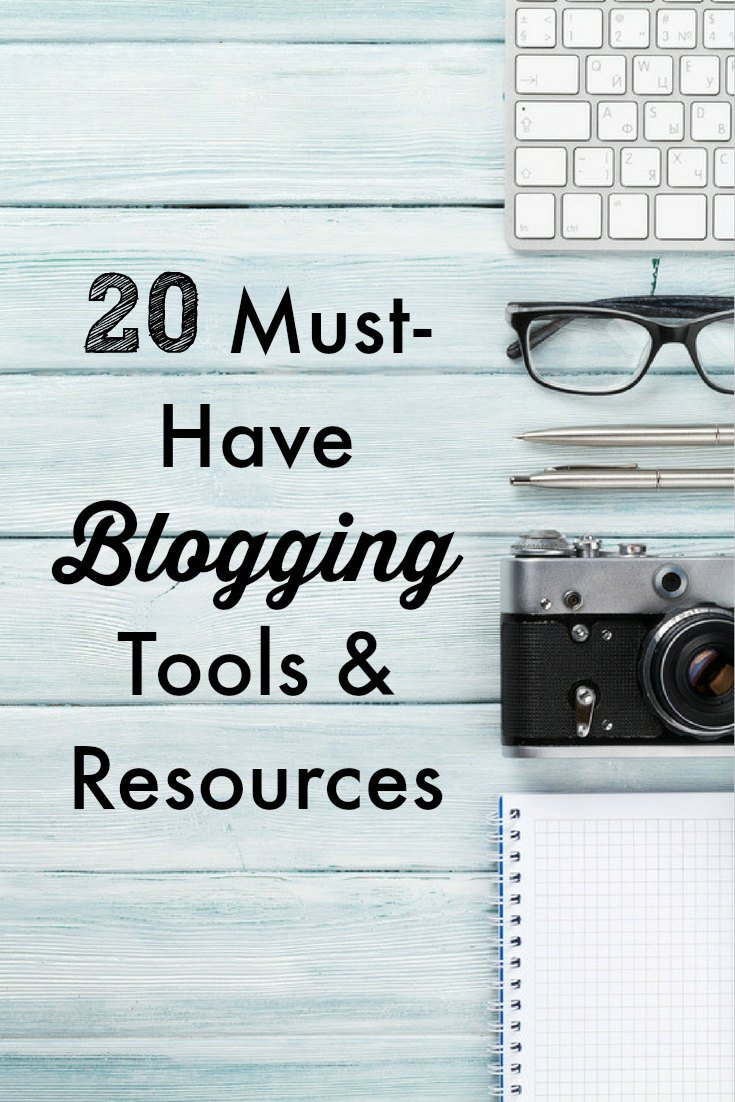20 Must-Have Blogging Tools and Resources: It's difficult to figure out which blogging resources and tools are worth the time and money. Here's a list of 20 that I've found indispensable.
