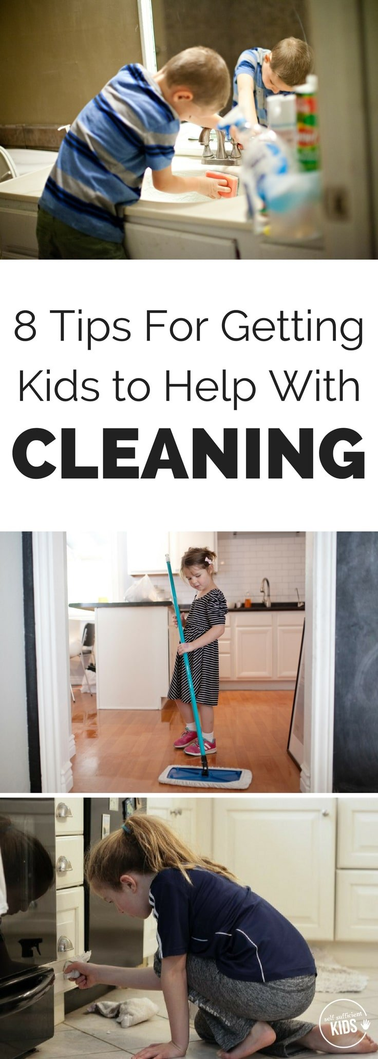 Getting kids to help with cleaning not only means less work for parents but also builds a life skill research says is necessary for kids' success. 8 Tips for Getting Kids to Help With Cleaning