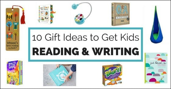 Forget toys and gadgets - get kids gifts they'll both love and that will encourage them to read and write. Great ideas in here to grow life-longer learners.