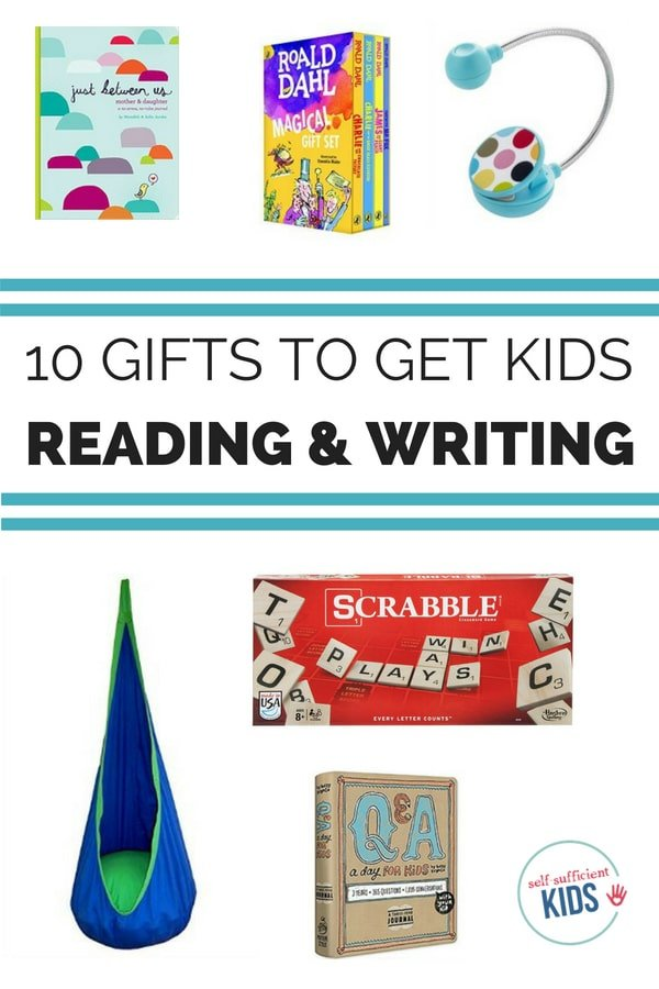 Forget toys and gadgets - get kids gifts they'll both love and that will encourage them to read and write. Great ideas in here to grow life-longer learners. #childrensbooks #writing #kids #readers #gifts