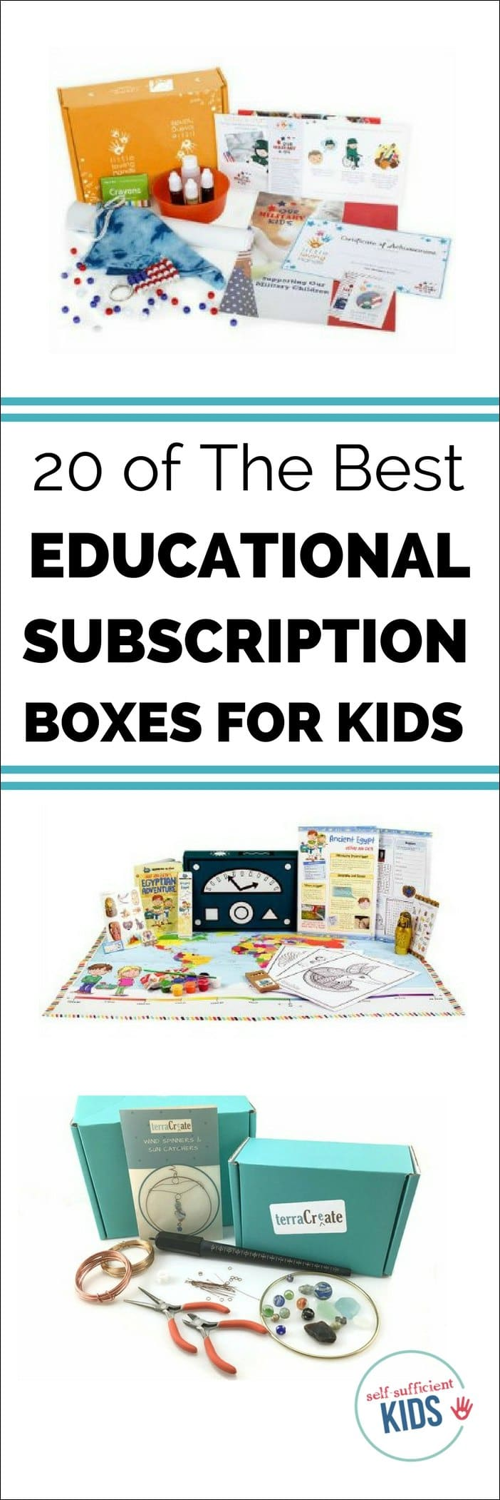 Educational subscription boxes for kids are a great way to enhance a child's interest in a subject or expose them to new ideas. They also make great gifts! The only problem is there are so many of them - how to choose? This list can help. #subscriptionboxesforkids