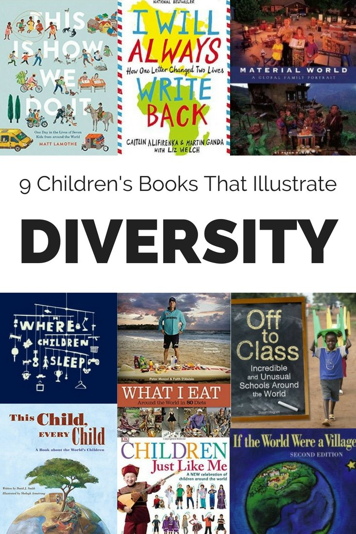 These children's books illustrate the diversity in our world. After reading these books, children will better understand the diversity and uniqueness of other cultures. #childrensbooks #booksforkids #kidsbooks #diversitybooksforkids #diversity