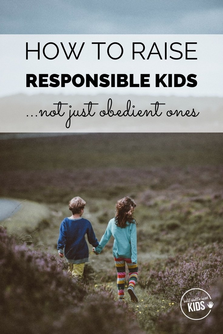 Responsible kids grow into young adults who take on tasks without being asked and need little supervision, instruction or guidance. Obedient kids do what their parents want them to do, not what they internally feel lead to do. Here's how parents can raise responsible kids.