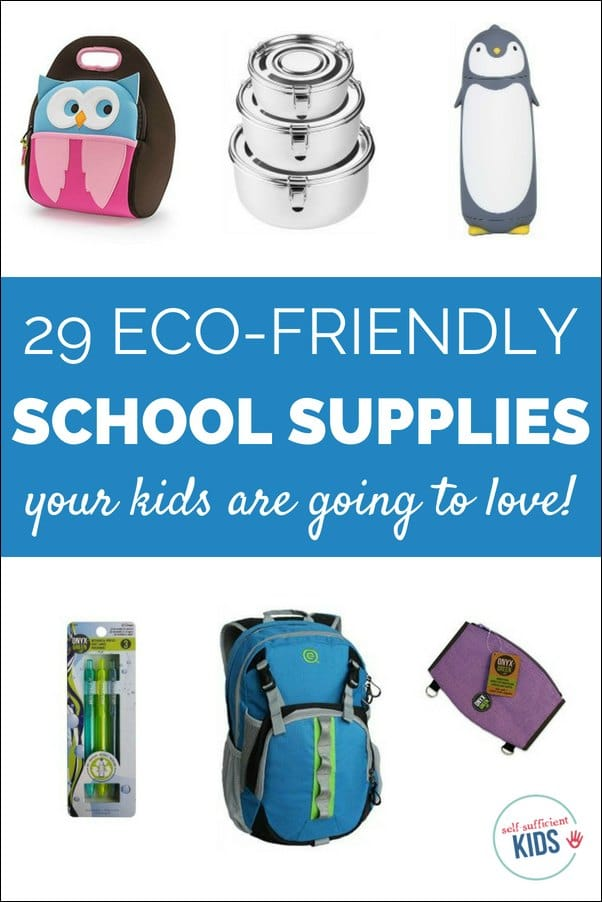 Eco-friendly school supplies are not only better for the environment but also feature fun and unique designs.