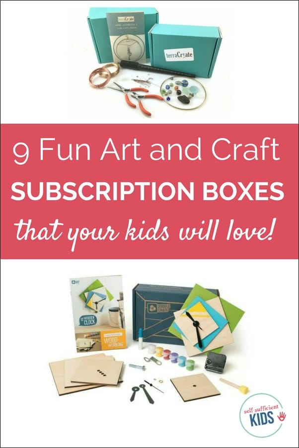 Your children will love these nine art and craft subscription boxes for kids. Each box comes with a prepared craft + a twist to get creative juices flowing.
