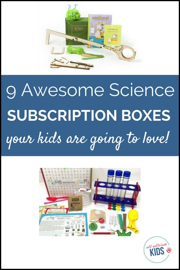 Let your children see how fun and exciting science can be with these nine monthly subscription boxes for kids. #subscriptionboxesforkids #stemprojects #stemactivities #scienceprojectsforkids