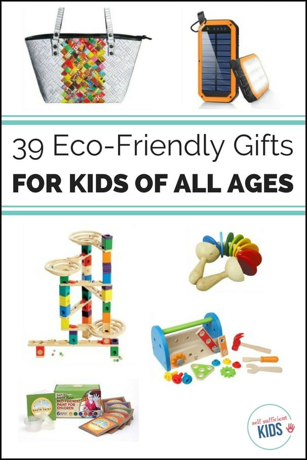 Quality eco-friendly gifts for kids and teens can be hard to find. These thirty-four presents are not only green but have lasting appeal.