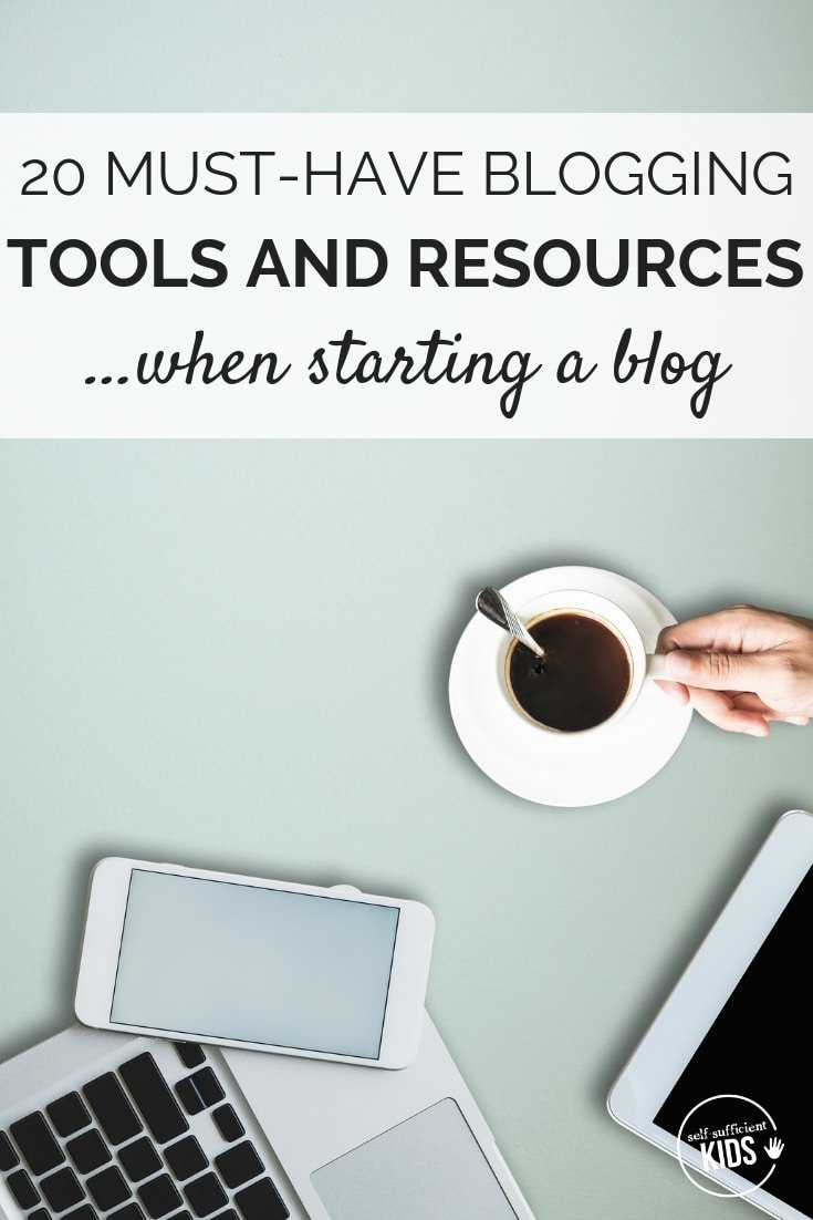 It can be difficult to determine which blogging resources and tools are worth the time and money when starting a blog. Here are 20 I've found indispensable. #startingablog #bloggingresources