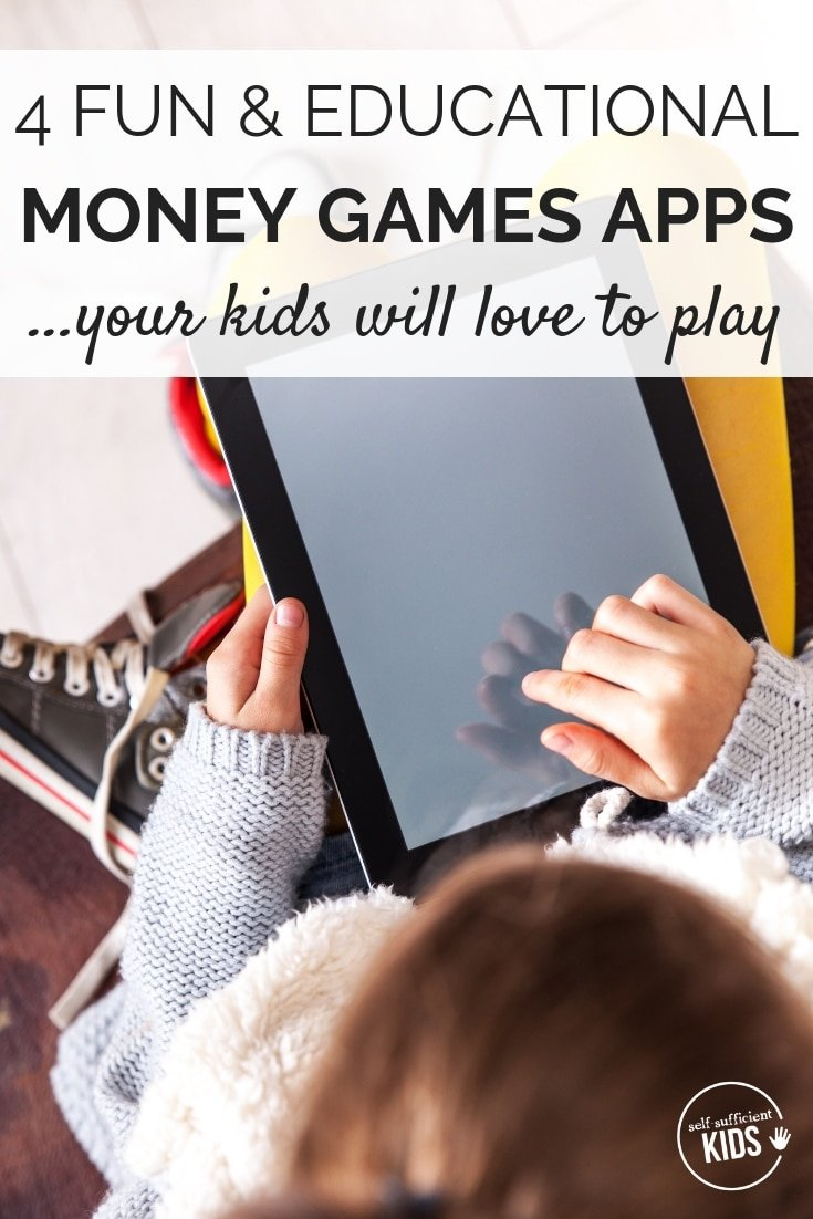 These are some of the best money games apps for kids. Not only are they educational but they're also fun! My kids can't get enough of these games! #moneygamesapps