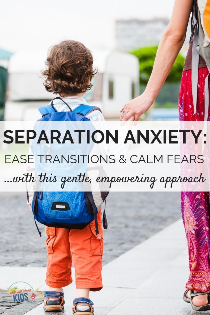 Separation anxiety in children can be heart-wrenchingly challenging for parents. Here's how to handle your child's anxiety in a positive, caring way. #separationanxietychildren
