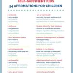 54 affirmations for kids