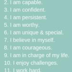 fourteen positive affirmations for kids