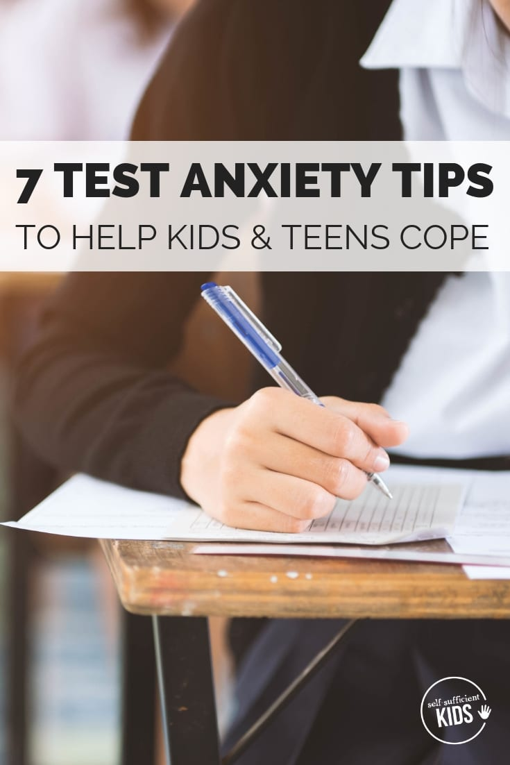 Both kids and teens can experience test anxiety. Here are 7 test anxiety tips to help your child cope with the unease of taking a timed test. #testanxiety #testanxietytips #testanxietytipskids