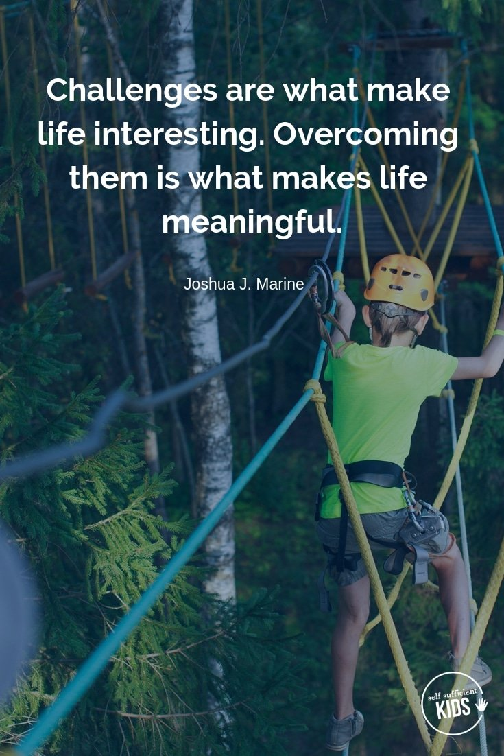"""Challenges are what make life interesting. Overcoming them is what makes life meaningful."" - Joshua J. Marine These growth mindset quotes will inspire both you and your kids to work hard, not give up, and to view challenges and failures as opportunities. #parentingquotes #parentingadvice #parentingtips"