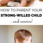 Parenting a strong-willed child can test even the most patient adult. Yet, strong-willed children have characteristics that will serve them well as adults. Here's how to keep that strong will alive while also keeping your sanity and maintaining a healthy relationship with your child.#parentingadvice #parentingtips #strongwilledchild #parentingstrongwilledchild #strongwilledchilddiscipline #strongwilledtoddler