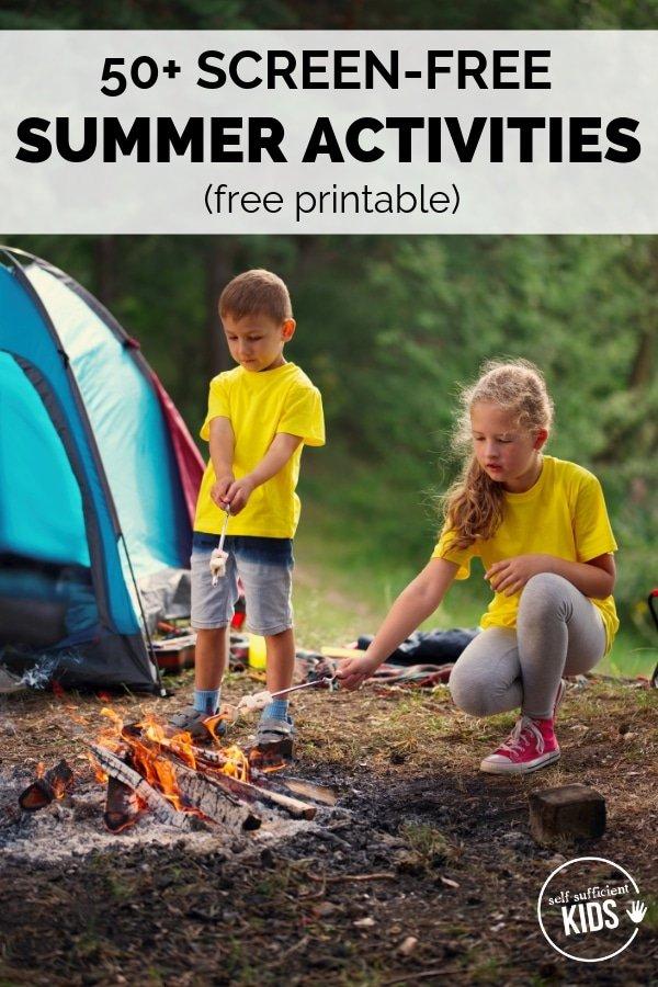 screen free kids activities