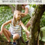 risky play kids climbing a tree