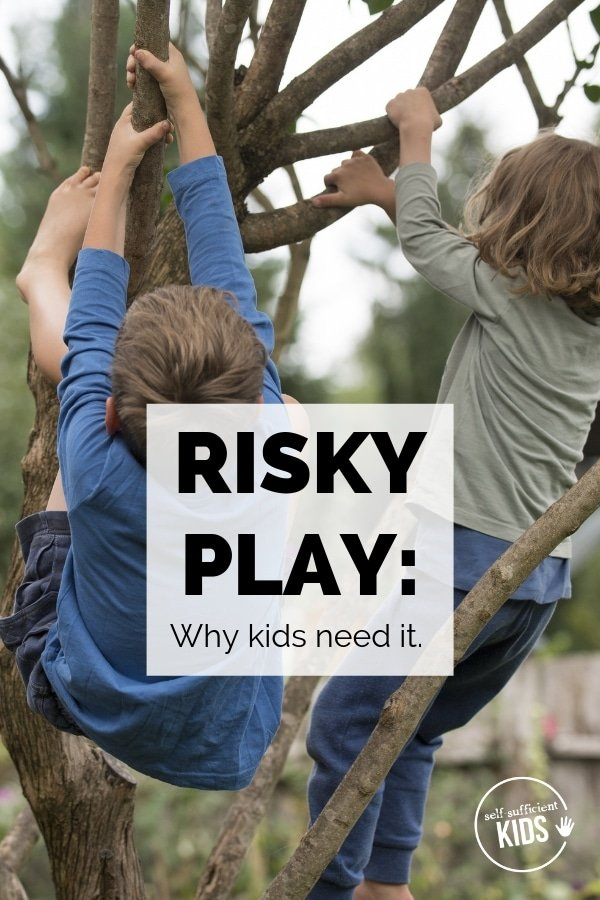 risky play kids children outdoors