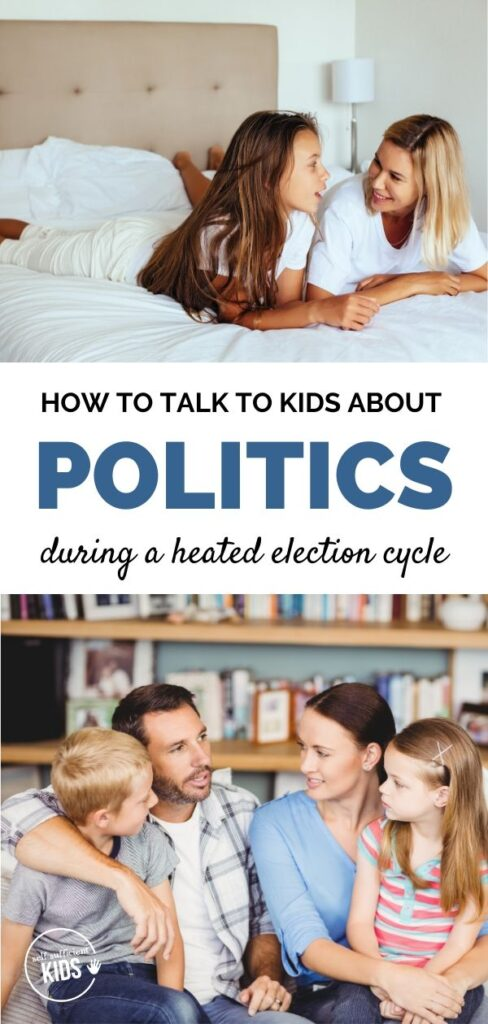 parents talking to kids about politics