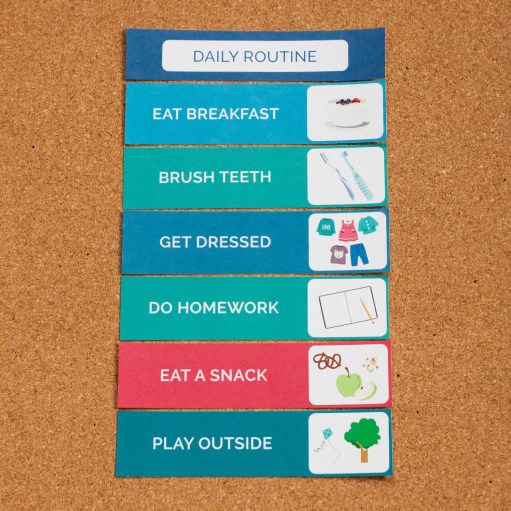 daily kids routine schedule