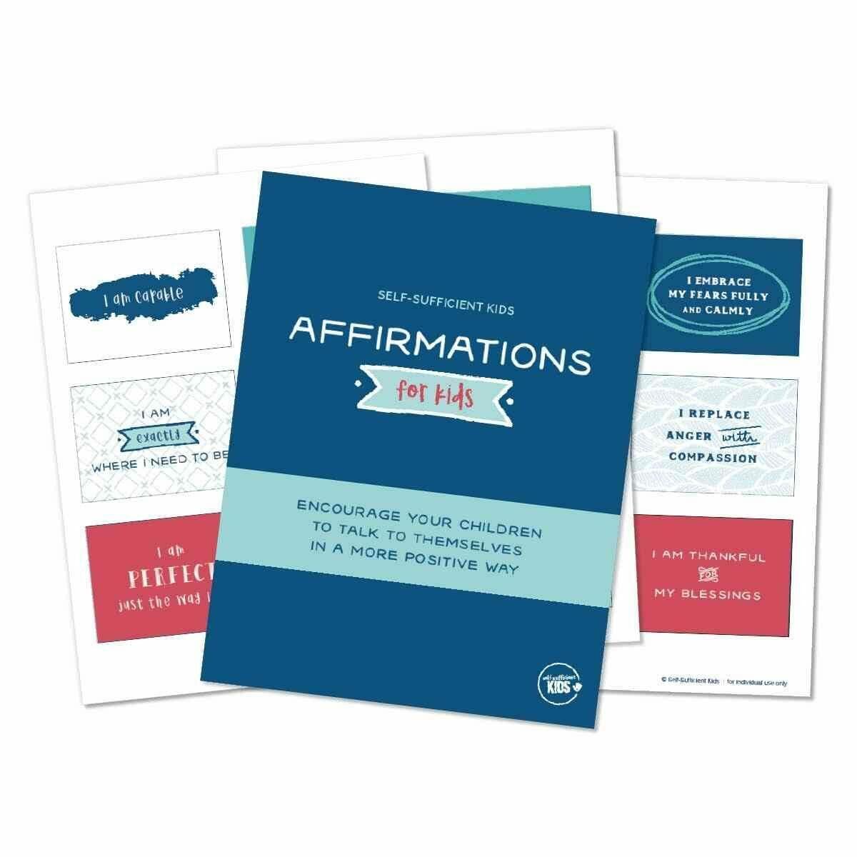 affirmation cards for kids printable